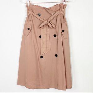 NWT J.O.A mauve midi Skirt size S